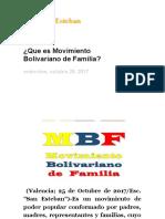 ¿Que es Movimiento Bolivariano de Familia_