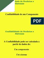 Aula 4 - Confiabilidade Componentes
