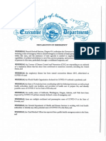 Declaration of Emergency Re COVID