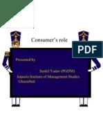 Consumer's role