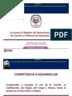 UNIDAD II LA CUENTA, REGISTRO DE  OPERACIONES, CATÁLAGO DE CUENTAS Y MANUAL DE APLICACIÓN DE CUENTAS