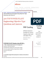 1 300+ TOP POWER PLANT Engineering Questions and Answers Pdf