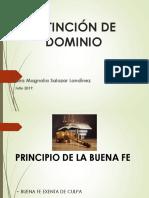 BUENA+FE EXTINCION DE DOMINIO