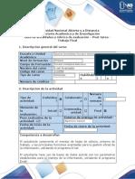 Guía de actividades y Rubrica de Evaluación - Post-tarea - Trabajo Final