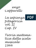 Capparelli V., Teoria Matematica della scala musicale