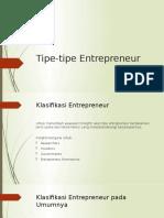 Tipe-tipe Entrepreneur