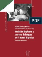 Variaciones linguistica y contacto de lenguas en el mundo hispanico