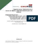 Tarea6.3 Segundo Avance Elaboracion de un manual de higiene y seguridad Industrial para una empresa_GRUPAL