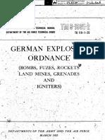 Tm 9 1985 2 German Explosive Ordnance Bombs Fuzes 1953
