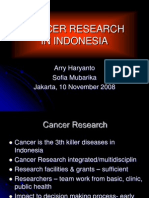 Cancer Research in Indonesia