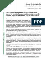 Coronavirus   Discurso íntegro de Juan Manuel Moreno