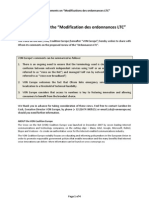 VON Europe - Comments on Modifications of Ordonnances LTC