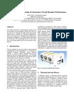 Modeling and simulation generator CB performance