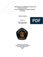TECHNICAL EFFICIENCY OF CUT-FLOWER FARMING IN GUNUNGSARI VILLAGE, BATU CITY (A DATA ENVELOPMENT ANALYSIS APPROACH)