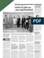 Vázquez presenta el país en EEUU como una oportunidad