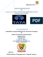 Tata Motors Summer Training Report By Makshud Khan