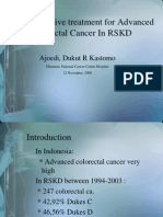 Operative Treatment for Advanced Colorectal Cancer in RSKD