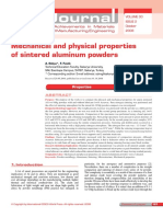 Mechanical and physical properties of sintered aluminum powders