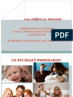 Curs 1 Psihologia ca stiinta si ca profesie