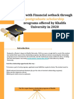 Fight With Financial Setback Through Scholarship Programs Offered by Khalifa University in 2020