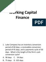 Working Capital Finance