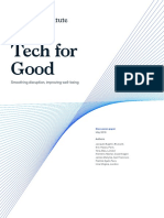 Tech for Good - Smoothing disruption, improving well-being