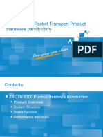 PTN 6300 Packet Transport Product Hardware Introduction