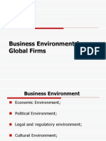 Business Environment for Global Firms111