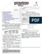 Apostila de Matrizes (8 Páginas, 40 Questões, Com Gabarito)