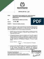 CIRCULAR REGISTRADURÍA NACIONAL - TRÁMITE DE CABILDOS ABIERTOS