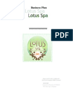 Business plan lotus spa