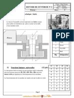 Devoir de Synthèse N°2 - Technologie buté - 2ème Technique (2012-2013) Mr ben Med mohamed