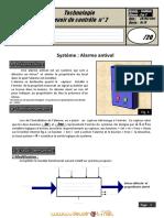 Devoir de contrôle N°2 - Technologie Alarme - 2ème Sciences (2011-2012) Mr Amjed Saddem