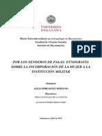 BAEZ Etnografia sobre la integracion de la mujer al mundo militar España