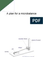 A Plan for a Microbalance