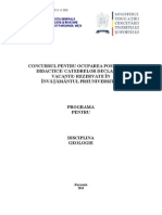 Geologie Programa Titularizare 2011