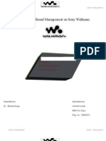 Brand Management of Sony Walkman