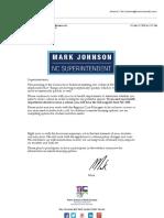 Coronavirus Update - Superintendent Mark Johnson