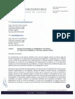 El informe sobre el almacén de suministros en Ponce