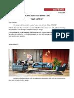 Villa Sofa Set Product Presentation Card