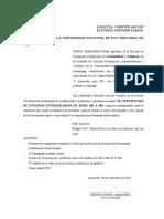 SOLICITA CERTIFICADO-UNSCH
