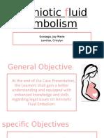 amniotic fluid embolism