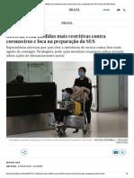 Governo evita medidas mais restritivas contra coronavírus e foca na preparação do SUS _ Brasil _ EL PAÍS Brasil