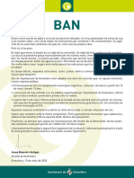 Ban Josep Mayoral coronavirus