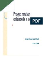 Programación Orientada a Objetos Clase 4