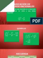 DIVIRTIENDOME CON RADICACIÓN  DE FRACCIONES