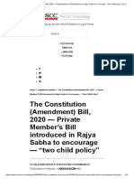 The Constitution (Amendment) Bill, 2020 -- Private Member's Bill introduced in Rajya Sabha to encourage -- _two child policy_ _ SCC Blog.pdf