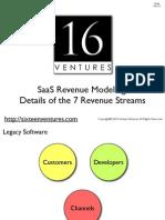 7 SaaS Revenue Streams