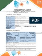 Guía de actividades y rúbrica de evaluación – Paso 3 – Análisis y solución del caso 2