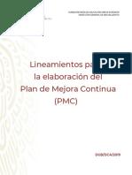 Lineamientos para la Elaboracion del PLAN DE MEJORA CONTINUA (PMC)